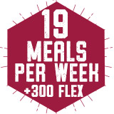 19 Meals Per Week plus 300 Flex $1,775.00